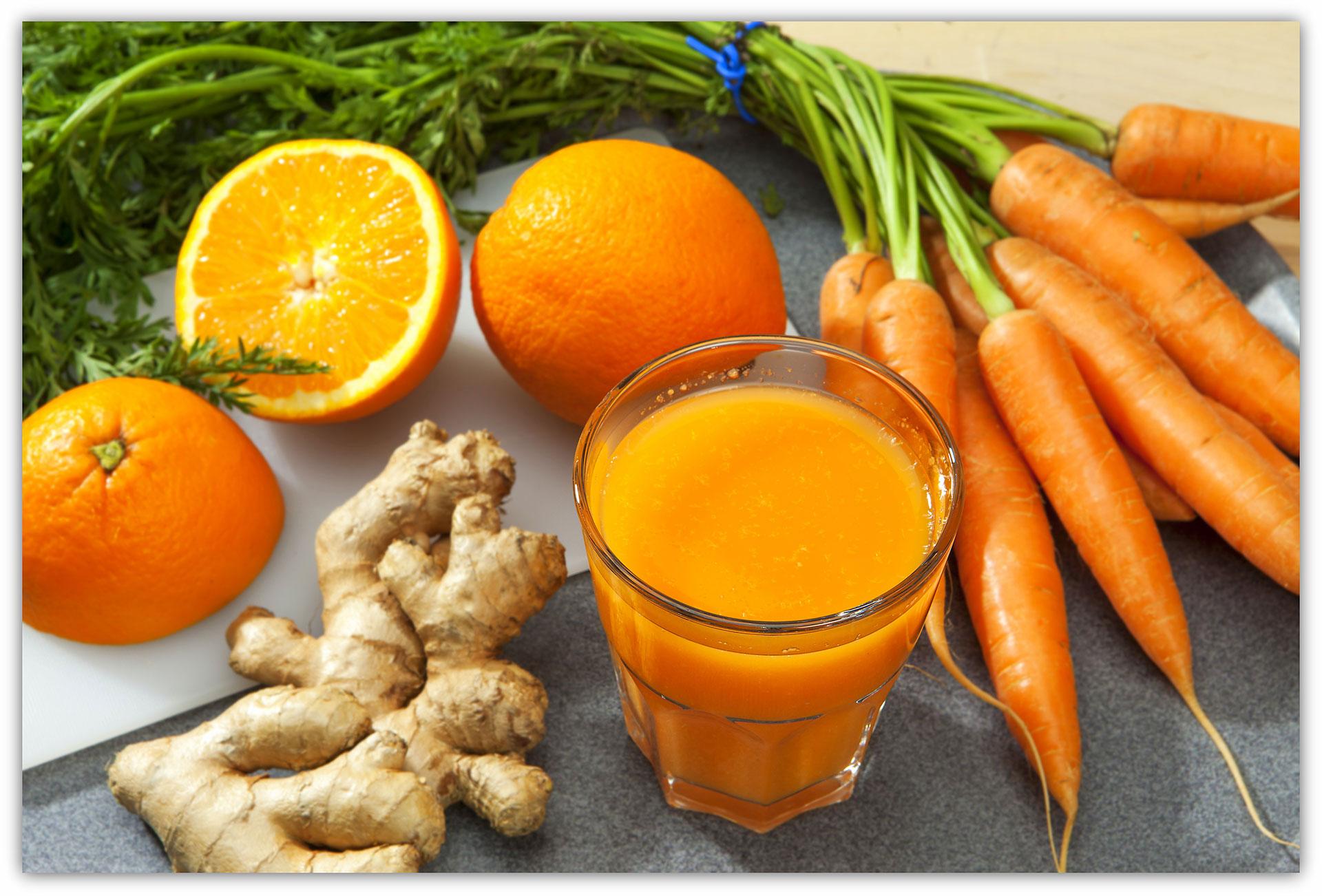 Pomeranč, mrkev, zázvor